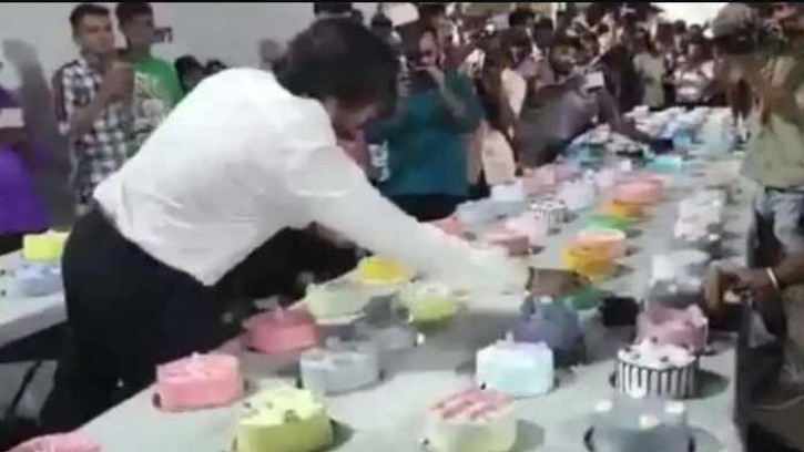 ৫৫০টি কেক কেটে জন্মদিন পালন করলেন সূর্য