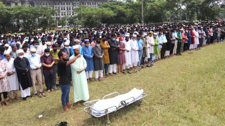 বশেমুরবিপ্রবি'র প্রয়াত শিক্ষক কাজী মসিউর রহমানের জানাজার নামাজ অনুষ্ঠিত
