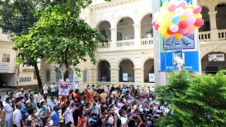 সীমিত পরিসরে জগন্নাথ বিশ্ববিদ্যালয় দিবস উদযাপন